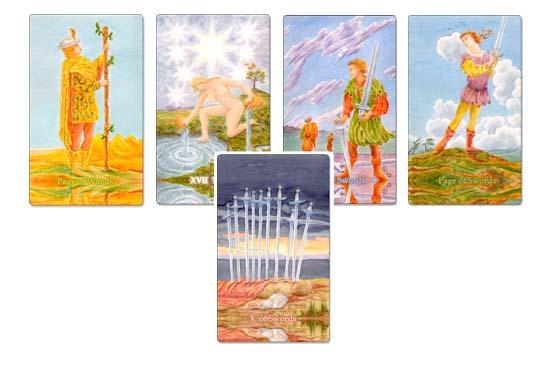 5 Tarot Cards Sample Reading.