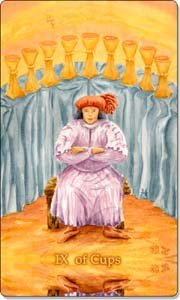 IX of Cups Tarot Card.