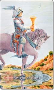 Knight of Cups Tarot Card.