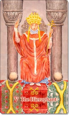 What is the meaning of V The Hierophant Tarot Card?