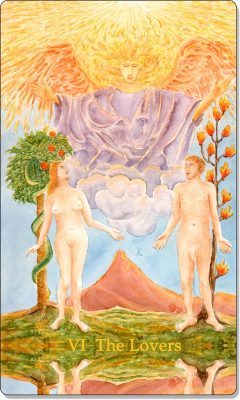 What is the meaning of VI The Lovers Tarot Card?