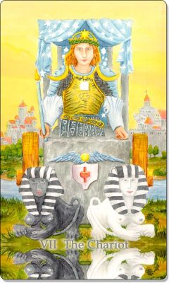 What is the meaning of VII The Chariot Tarot Card?