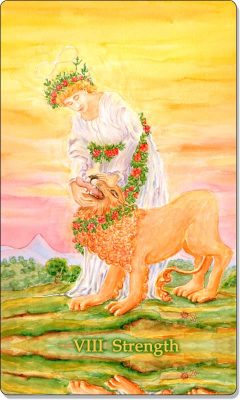 What is the meaning of VIII Strength Tarot Card?