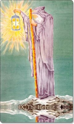 What is the meaning of IX The Hermit Tarot Card?