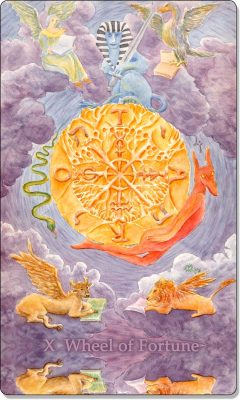 What is the meaning of X Wheel Of Fortune Tarot Card?