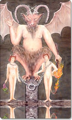 What is the meaning of XV The Devil Tarot Card?