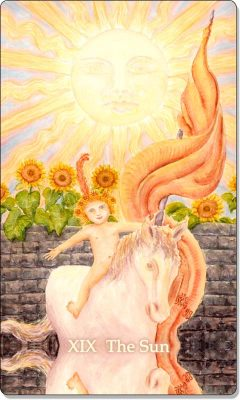 What is the meaning of XIX The Sun Tarot Card?