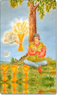 What is the meaning of IV Of Cups Tarot Card?
