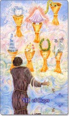 What is the meaning of VII Of Cups Tarot Card?