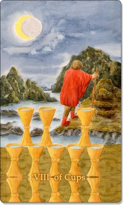 What is the meaning of VIII Of Cups Tarot Card?