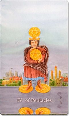 What is the meaning of IV Of Pentacles Tarot Card?