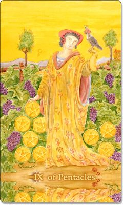 What is the meaning of IX Of Pentacles Tarot Card?