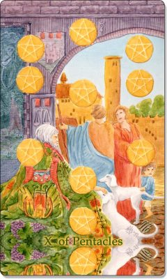 What is the meaning of X Of Pentacles Tarot Card?