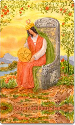 What is the meaning of Queen Of Pentacles Tarot Card?