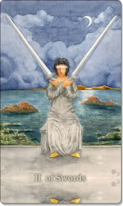 The image of 2 of Swords Tarot Card.