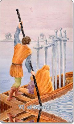 What is the meaning of the VI of Swords Tarot Card?