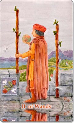 What is the meaning of the II of Wands Tarot Card?