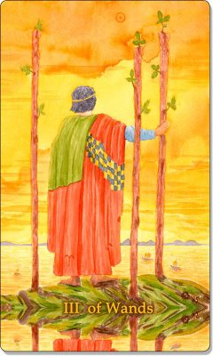 What is the meaning of the III of Wands Tarot Card?