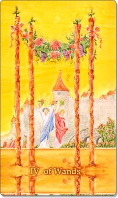 What is the meaning of 4 of Wands Tarot Card?