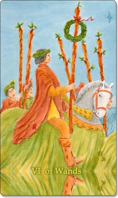 What is the meaning of VI of Wands Tarot Card?