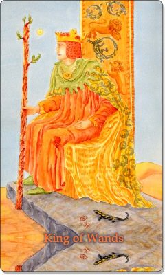 What is the meaning of King of Wands Tarot Card?