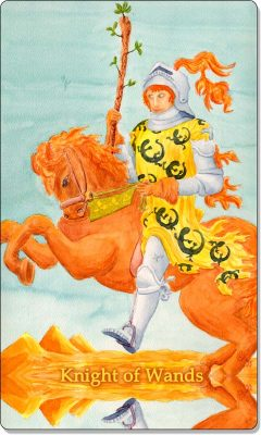 What is the meaning of Knight of Wands Tarot Card?