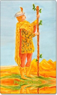 What is the meaning of Page of Wands Tarot Card?