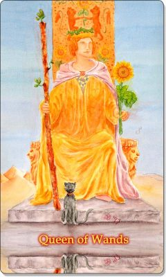 What is the meaning of Queen of Wands Tarot Card?